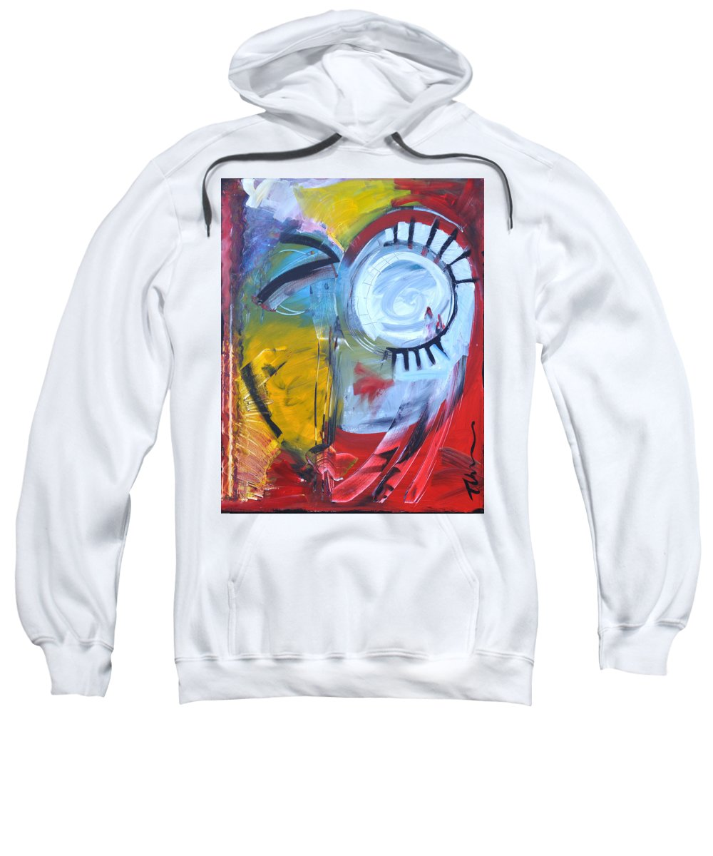 Jim Dine Sweatshirt featuring the painting Ode To Jim Dine by Tim Nyberg