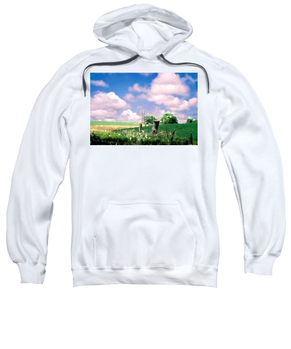 Landscape Sweatshirt featuring the photograph Off The Grid by Steve Karol