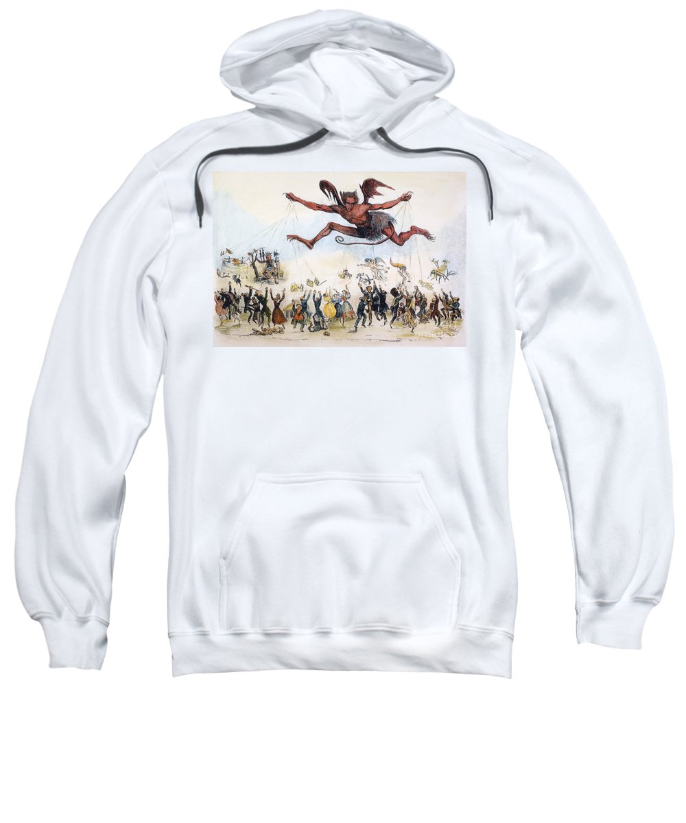 1834 Sweatshirt featuring the photograph Office Hunters Of 1834: by Granger