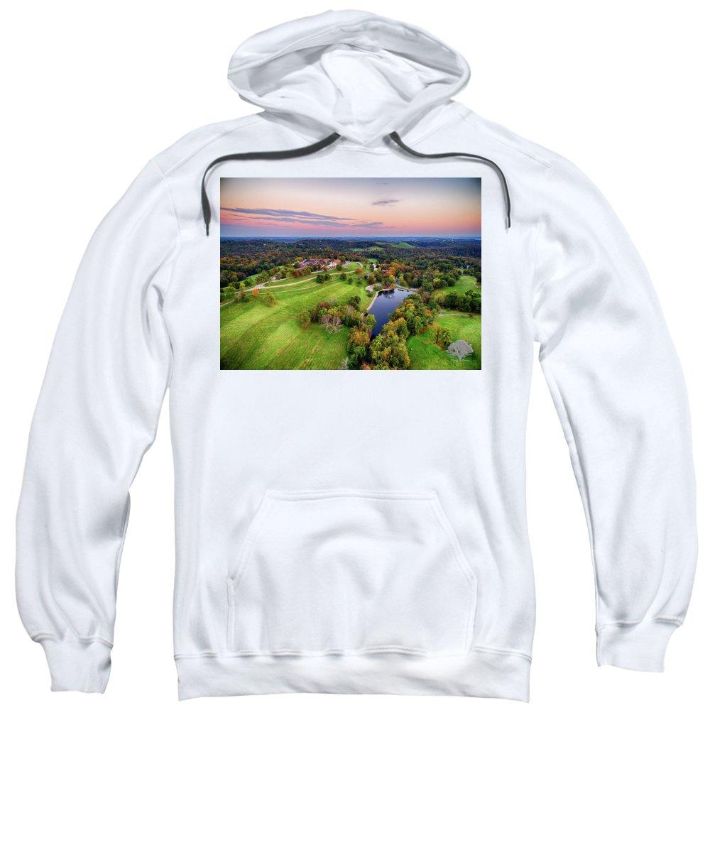 Oglebay Sweatshirt featuring the photograph Oglebay Twilight by Flying Dreams