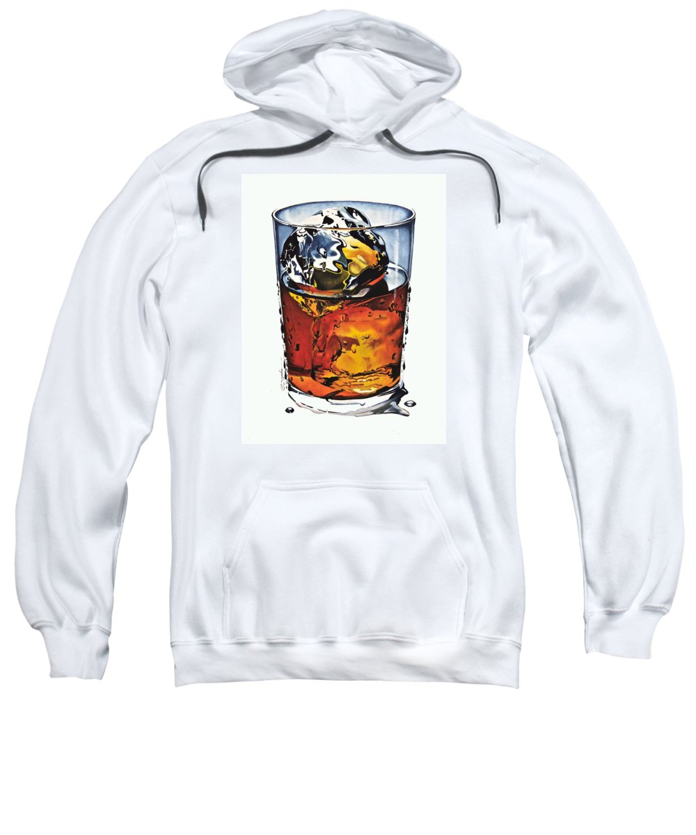Gouache Sweatshirt featuring the painting Oh My Gouache by Cliff Spohn