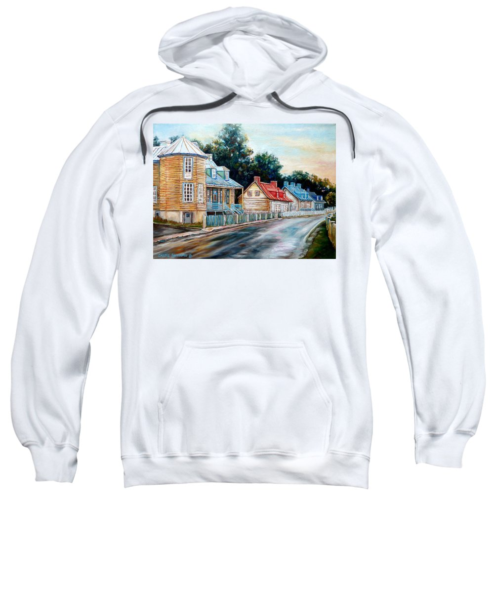 Ile D'oleans Sweatshirt featuring the painting Oh What A Beautiful Morning by Carole Spandau