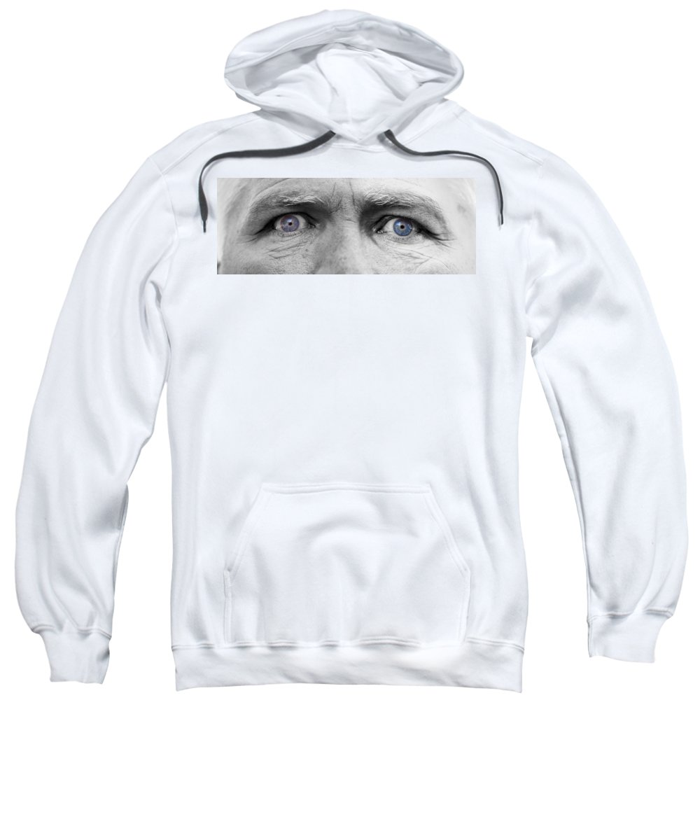 Eyes Sweatshirt featuring the photograph Old Blue Eyes by James BO Insogna