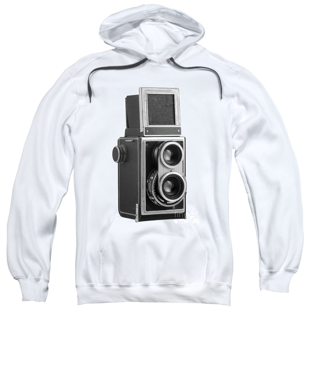 Camera Sweatshirt featuring the photograph Old Camera by Michal Boubin