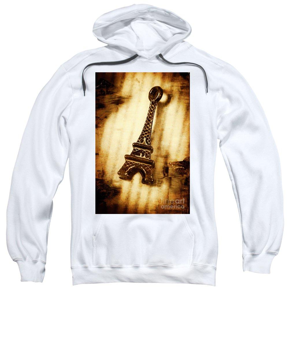 Souvenir Sweatshirt featuring the photograph Old Fashion Eiffel Tower Souvenir by Jorgo Photography - Wall Art Gallery