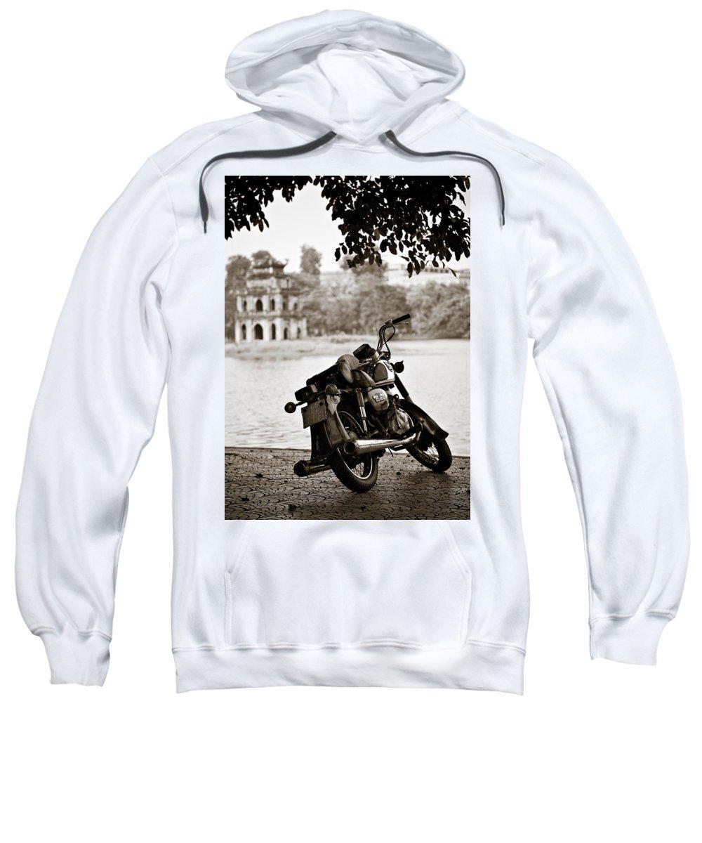 Honda Sweatshirt featuring the photograph Old Honda by Dave Bowman
