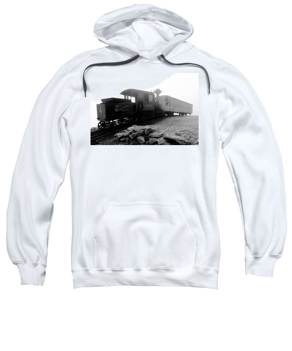 Train Sweatshirt featuring the photograph Old Locomotive by Sebastian Musial