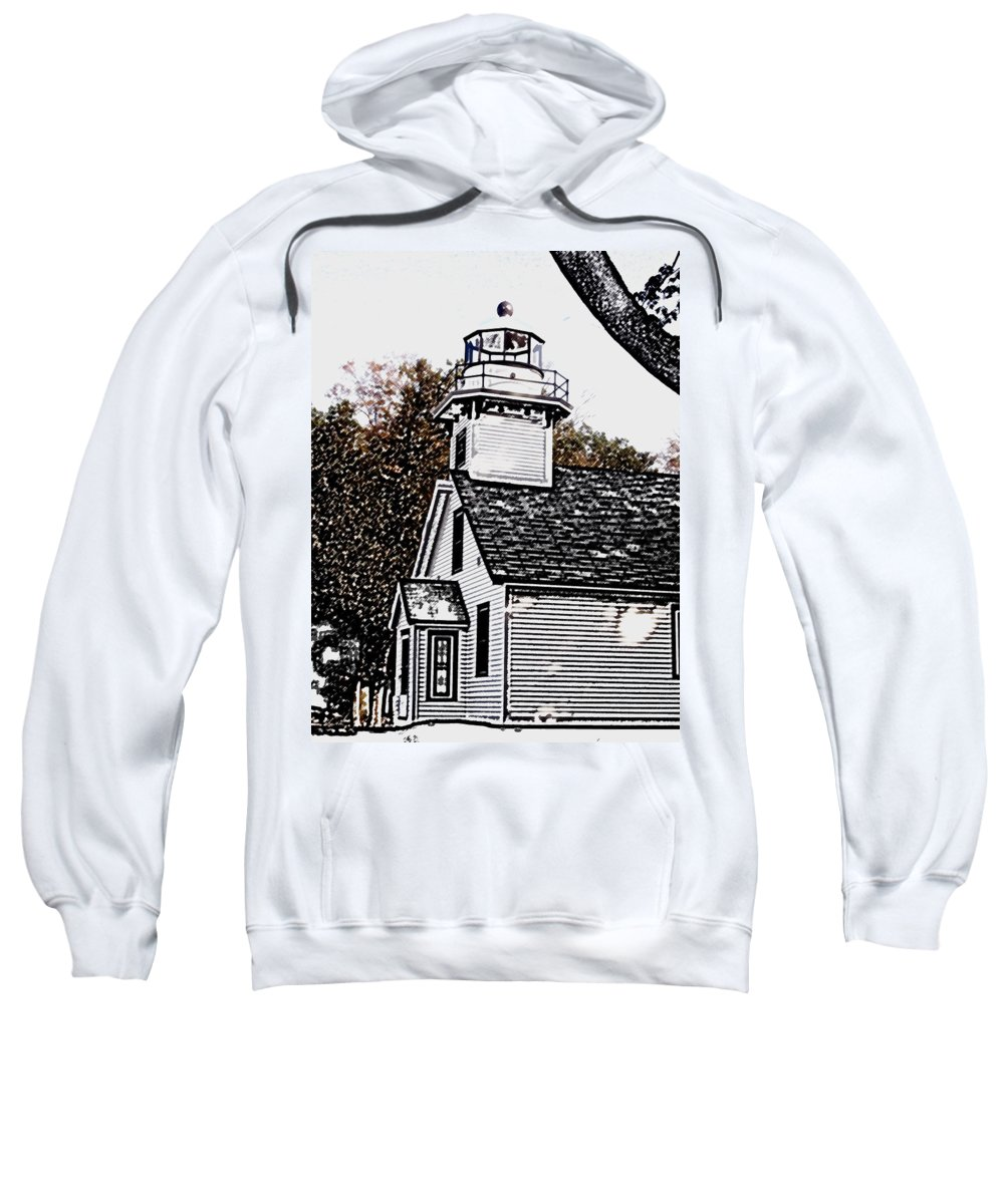 Altered Sweatshirt featuring the photograph Old Mission Point by Wayne Potrafka