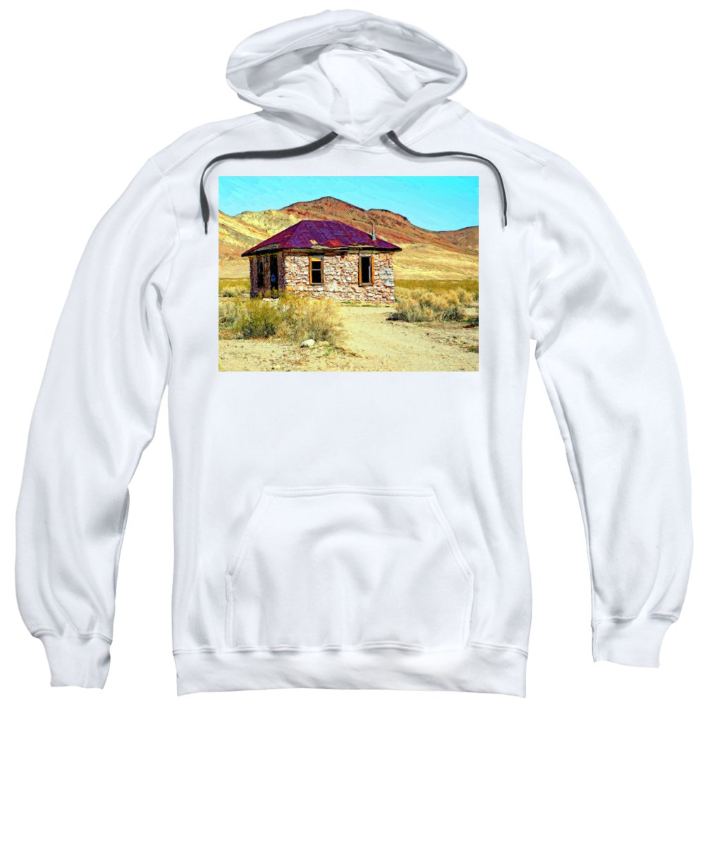 Bordello Sweatshirt featuring the painting Old Nevada Bordello by Dominic Piperata