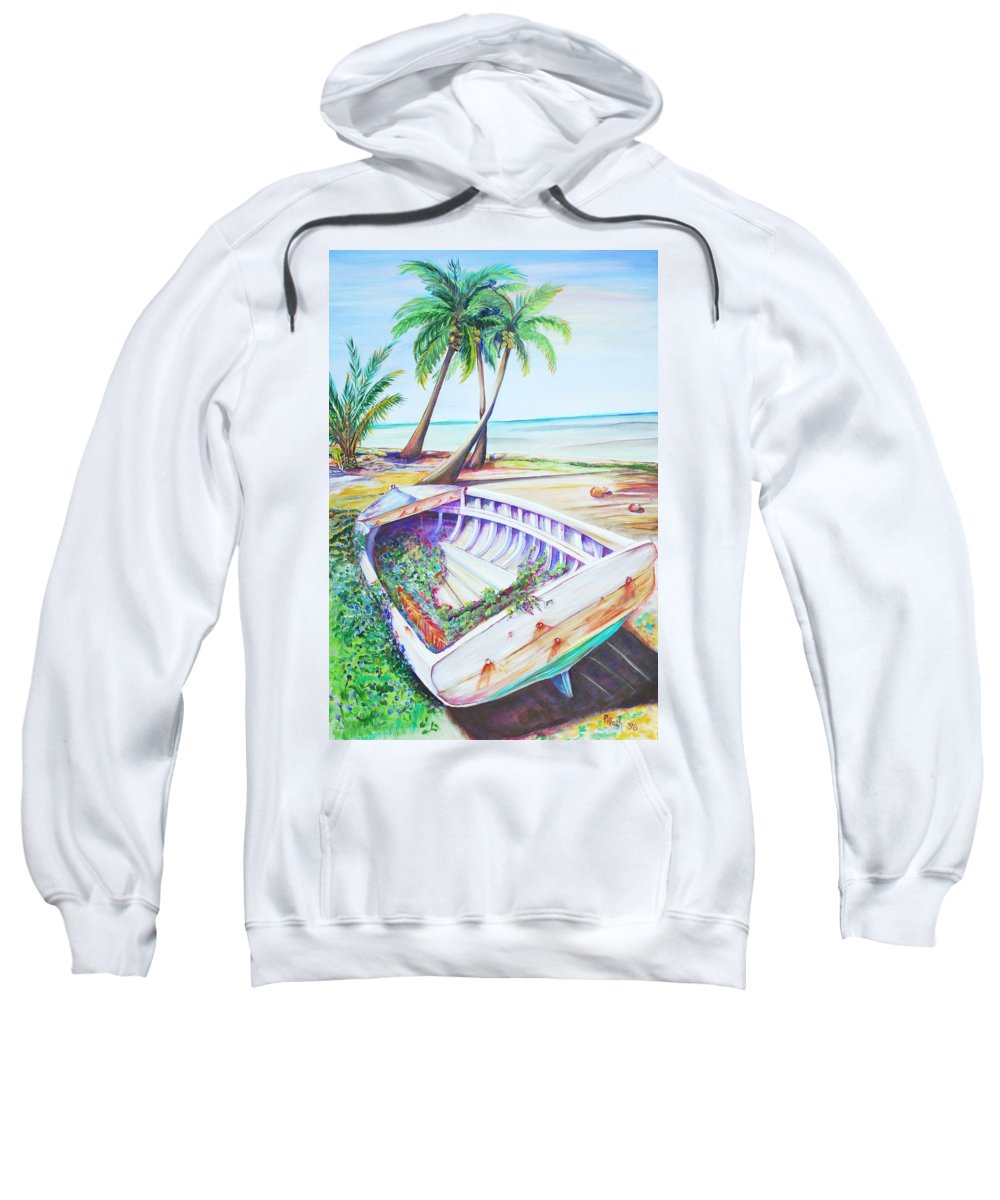 Old Dinghy Sweatshirt featuring the painting Old Paint by Patricia Piffath