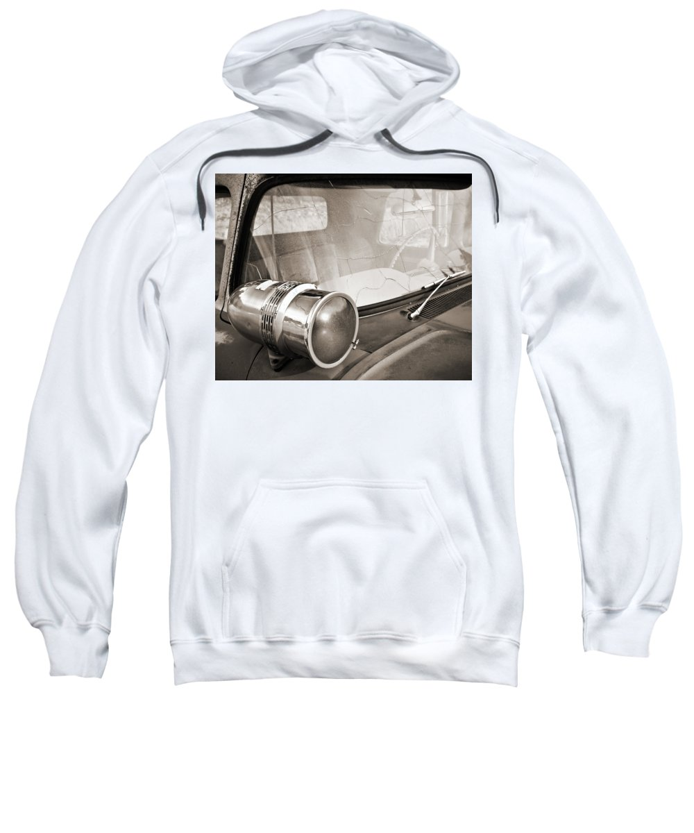 Americana Sweatshirt featuring the photograph Old Police Car Siren by Marilyn Hunt