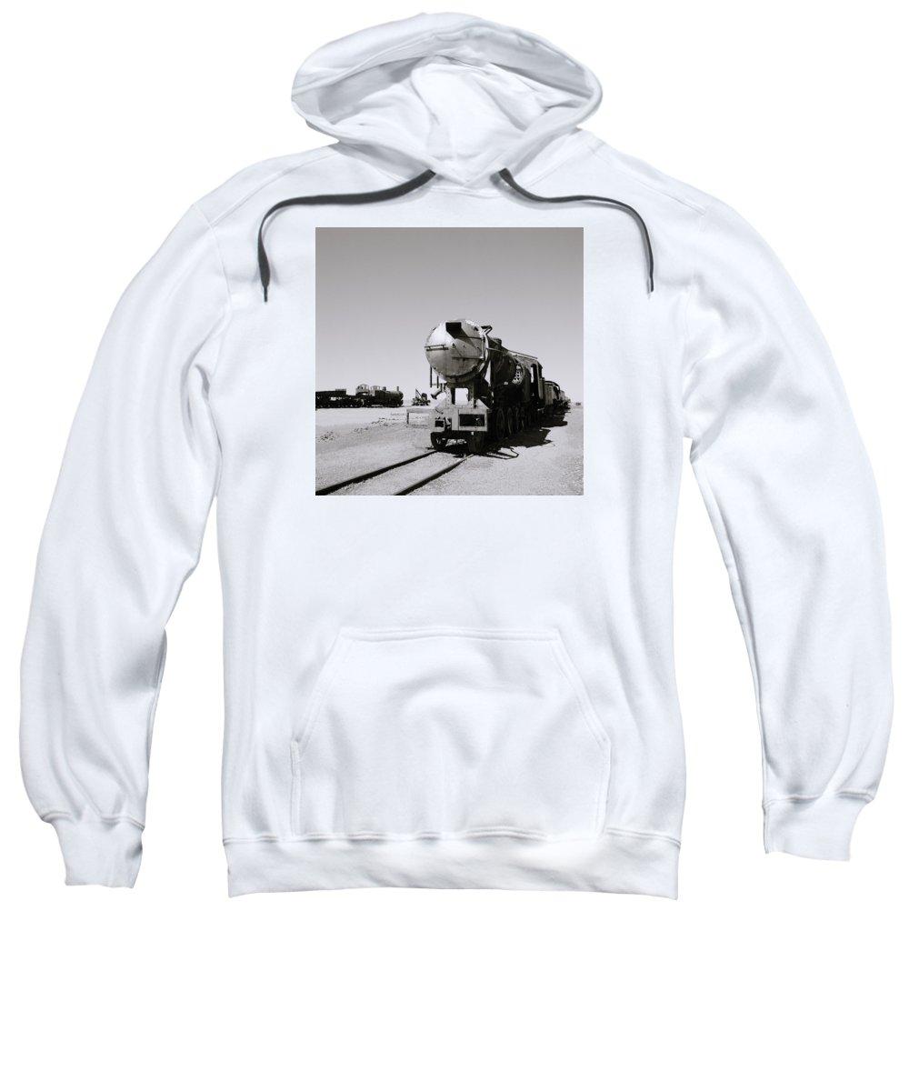 Train Sweatshirt featuring the photograph Old Steam Train by Shaun Higson