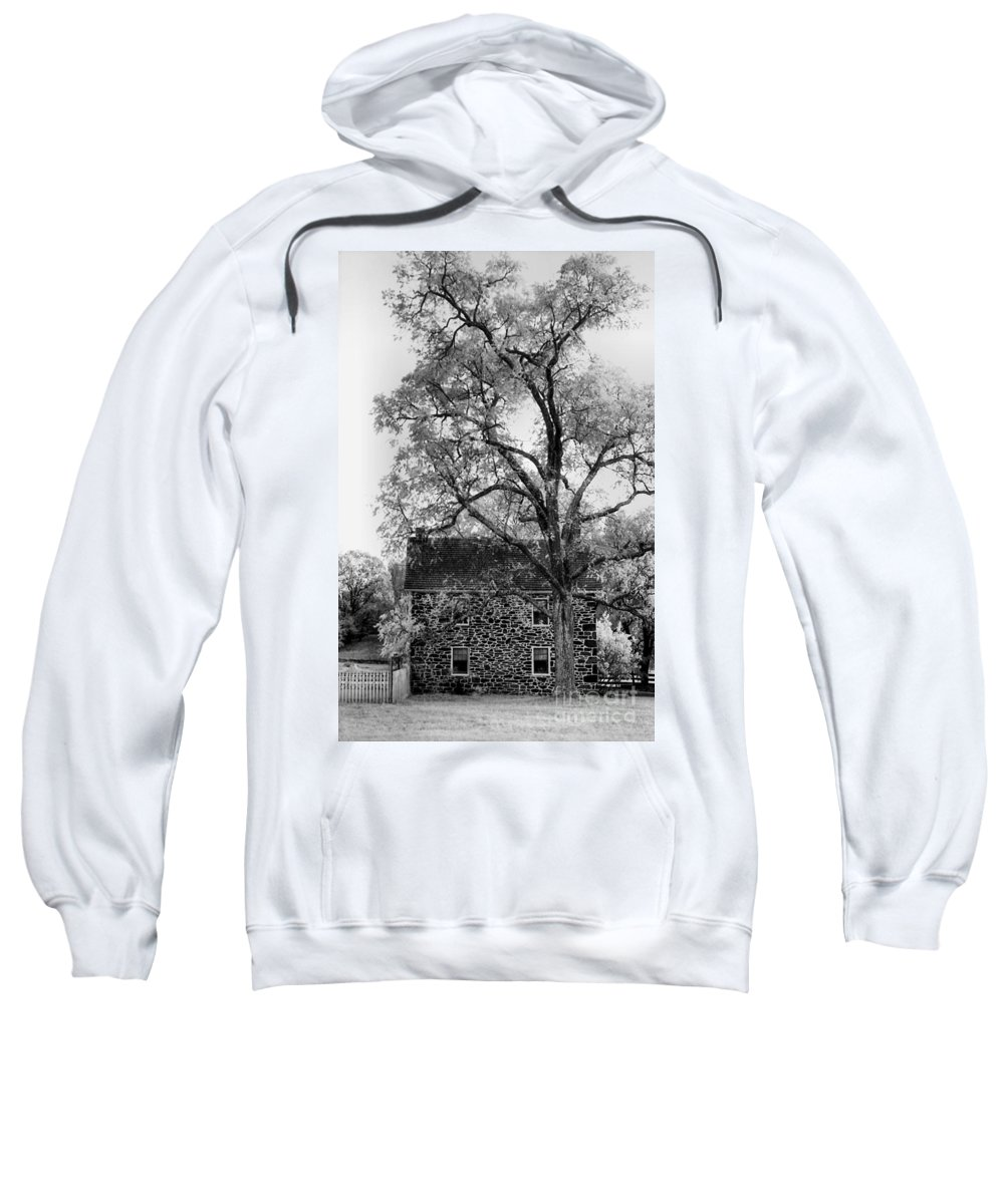 Homes Sweatshirt featuring the photograph Old Stone House by Richard Rizzo