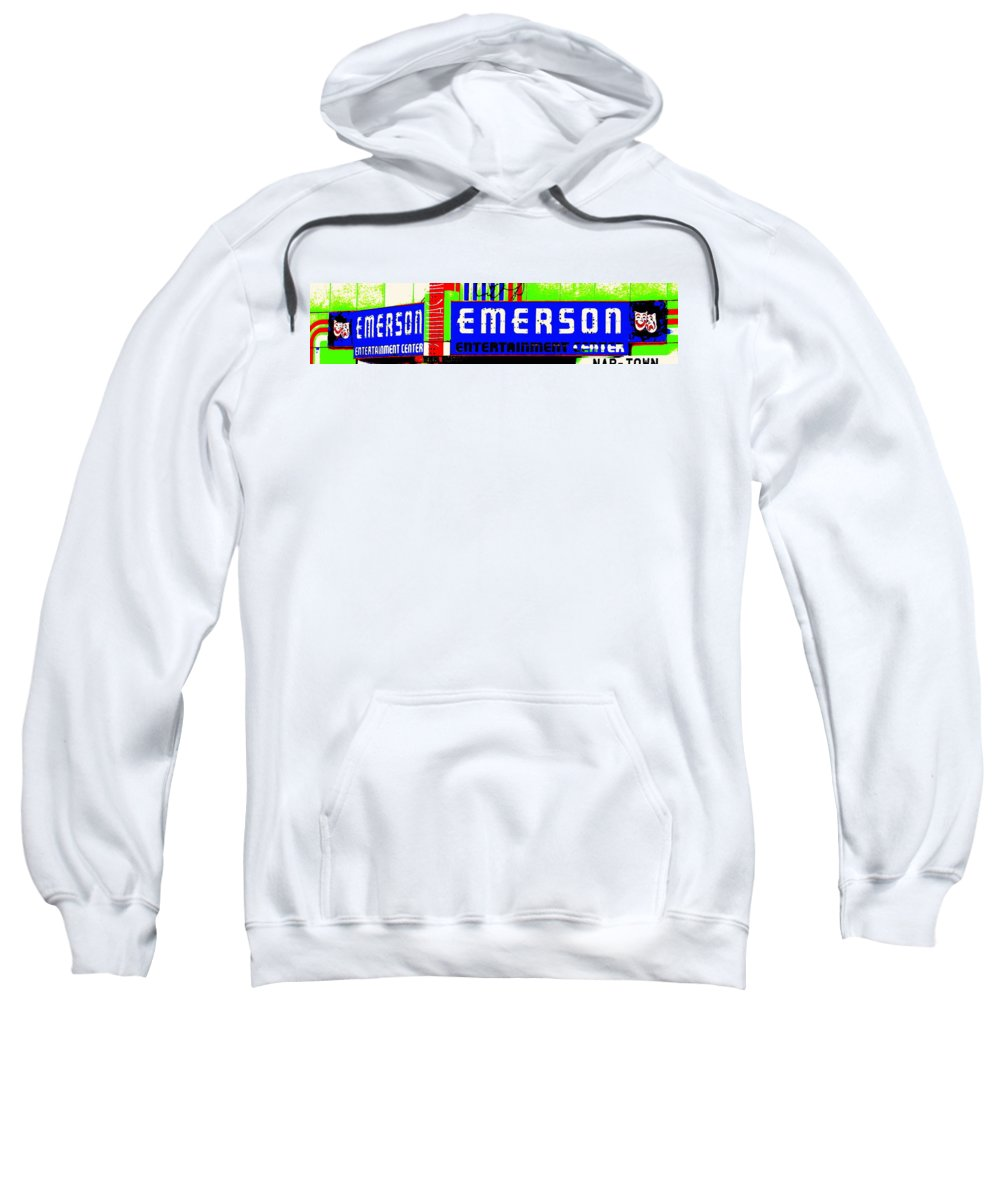 Music Sweatshirt featuring the photograph Old Theater by Ed Smith