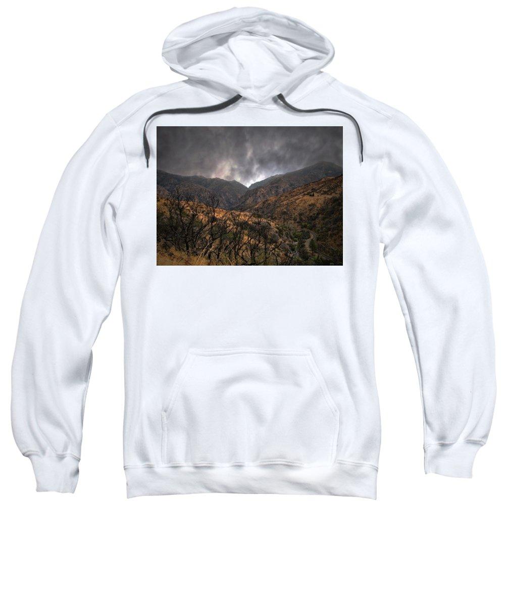 Yosemite National Park Sweatshirt featuring the photograph Ominous Skies by Scott Fracasso
