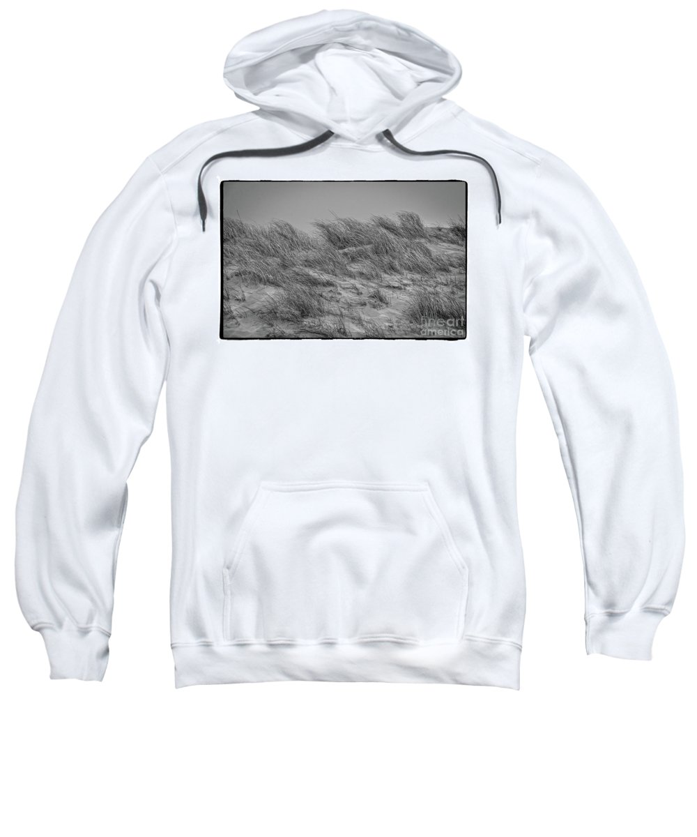 Black And White Sweatshirt featuring the photograph On The Dunes, Florence by Michael Ziegler
