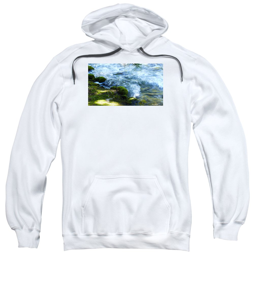 Ron Glaser Sweatshirt featuring the photograph On The Edge by Ron Glaser