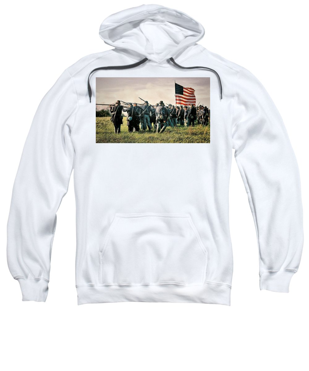 Civil War Sweatshirt featuring the photograph On The Field Of Battle by Lyle Hatch