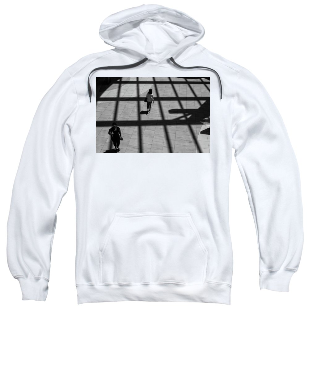 B&w Sweatshirt featuring the photograph On The Grid by Eric Lake