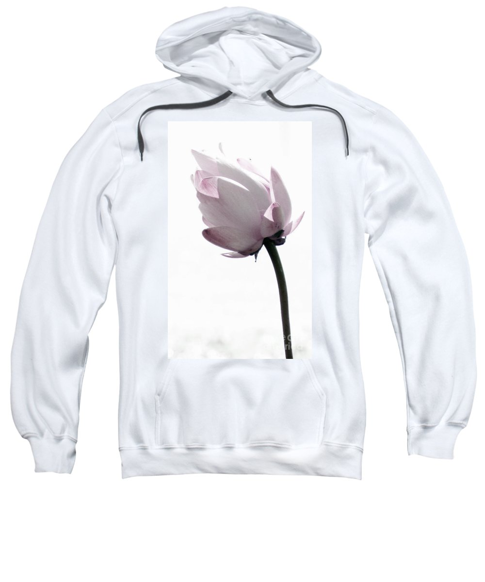 Lotus Sweatshirt featuring the photograph On The Inside by Amanda Barcon