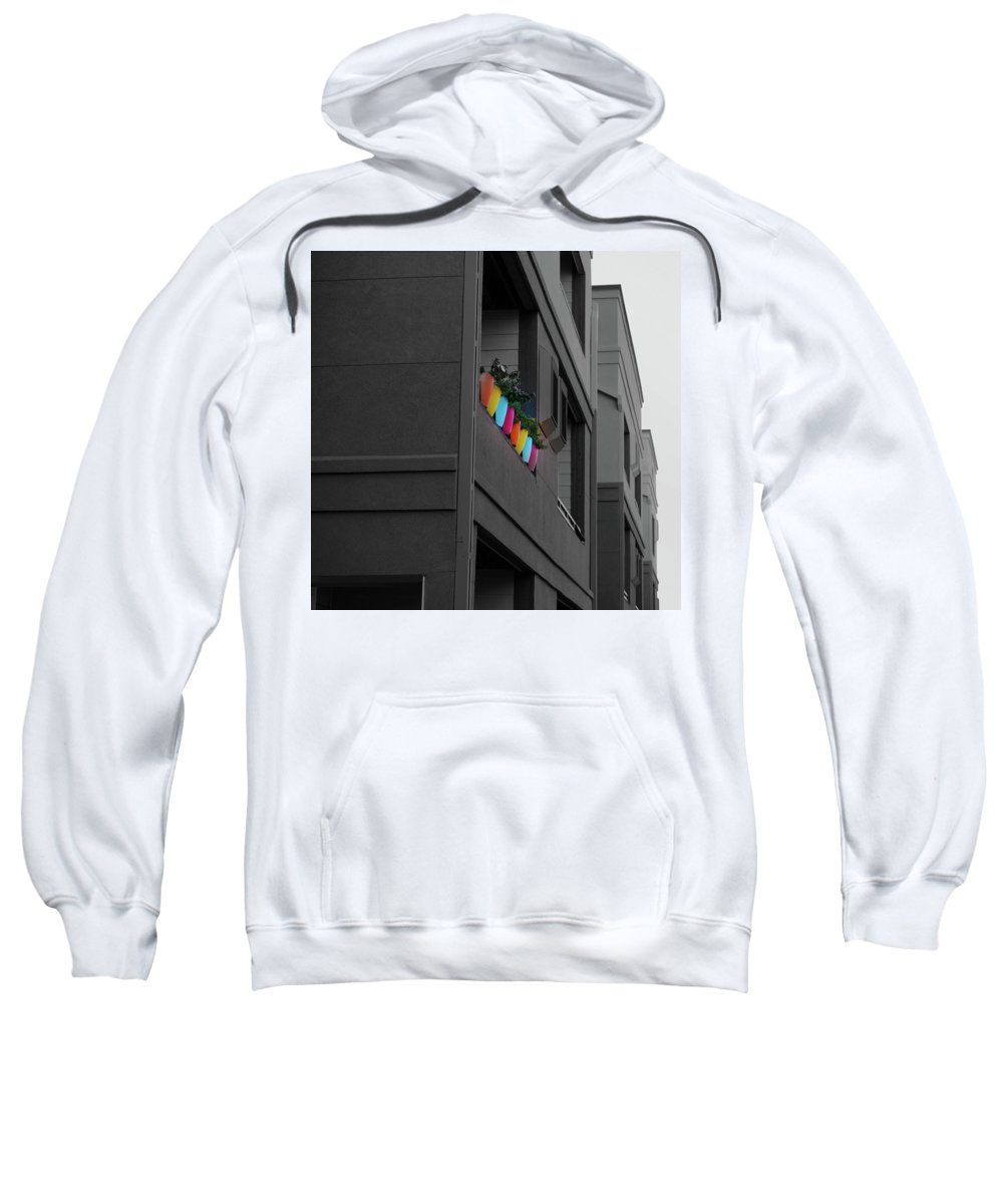Sweatshirt featuring the photograph On The Ledge by Karl Unertl