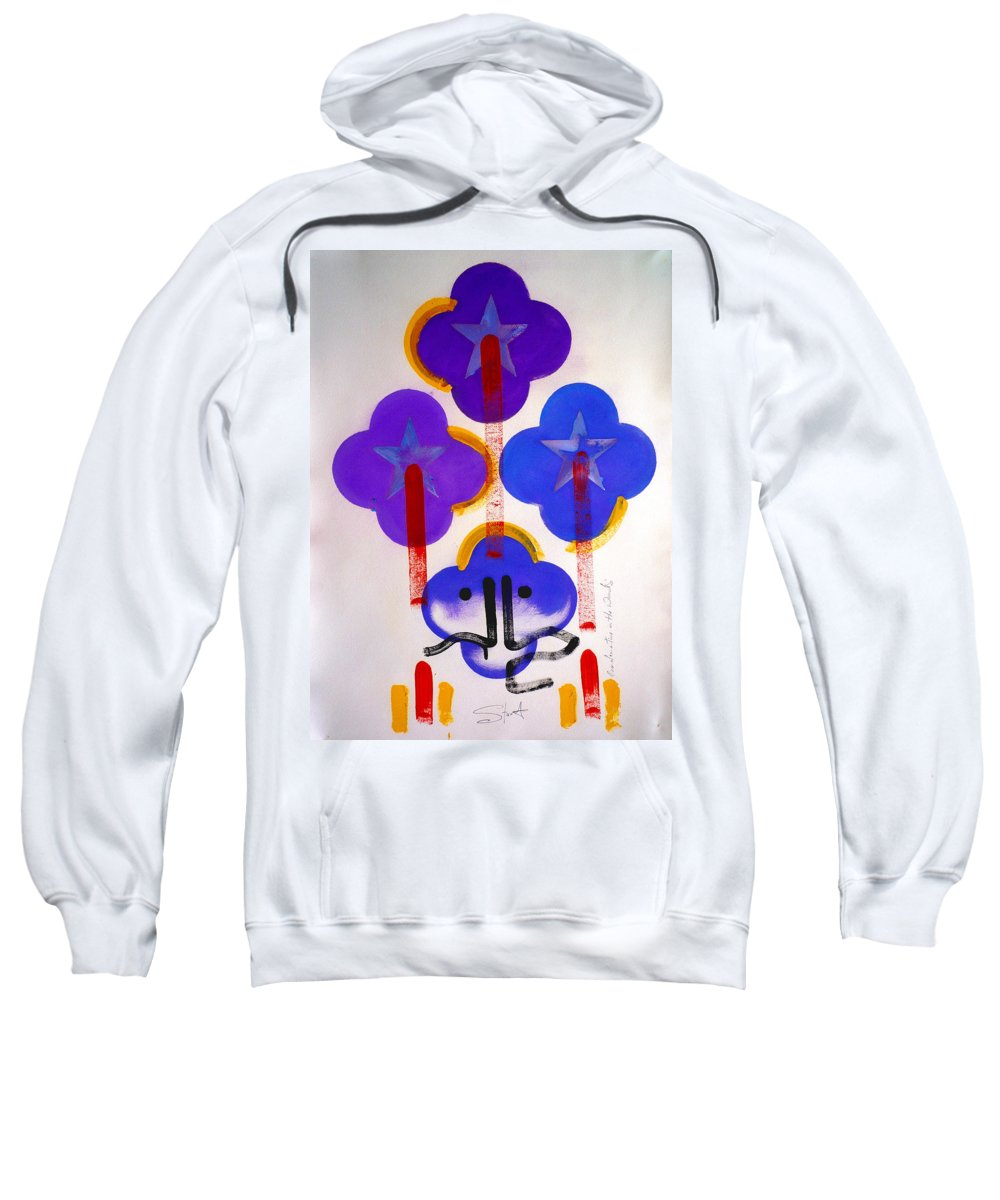 Drawing Sweatshirt featuring the painting Once Upon-a-time In The Woods by Charles Stuart