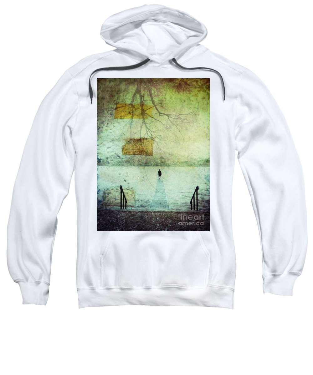 Man Sweatshirt featuring the photograph One Man In The Winter Of His Life by Tara Turner