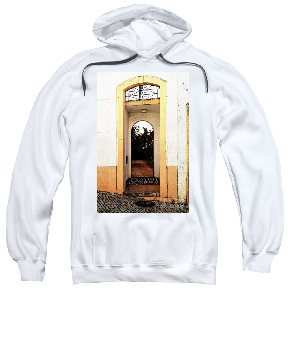 Open Sweatshirt featuring the photograph Open Doorway by Louise Heusinkveld