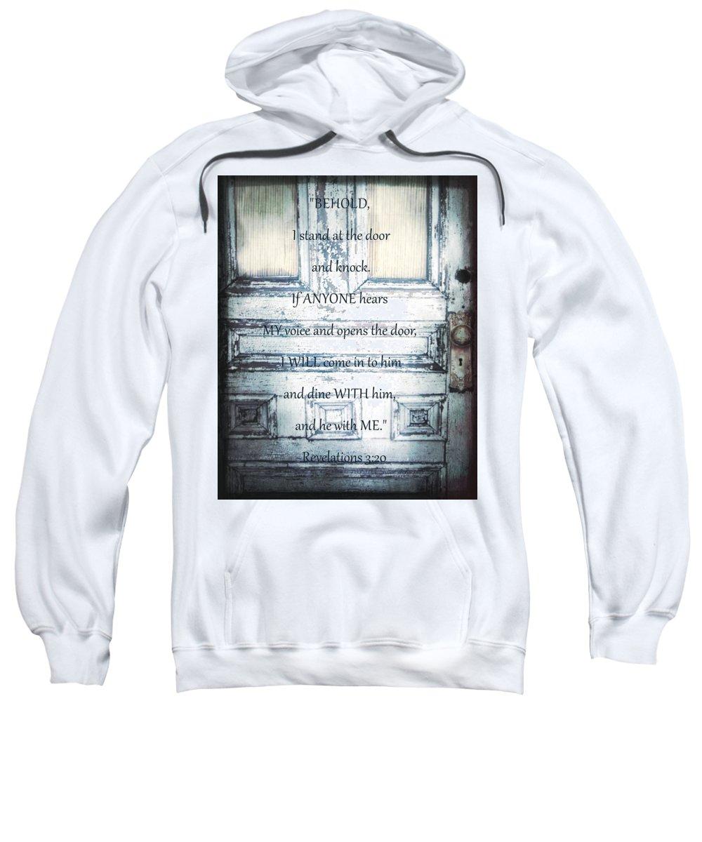 Scripture Sweatshirt featuring the digital art Open Your Heart by Hannah Breidenbach