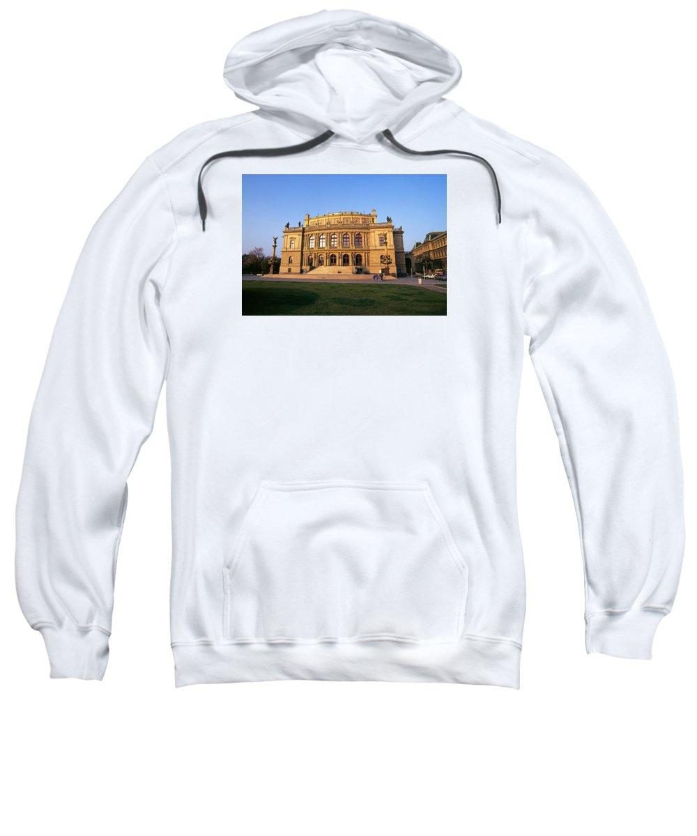 Czech Sweatshirt featuring the photograph Opera House, Prague by Buddy Mays