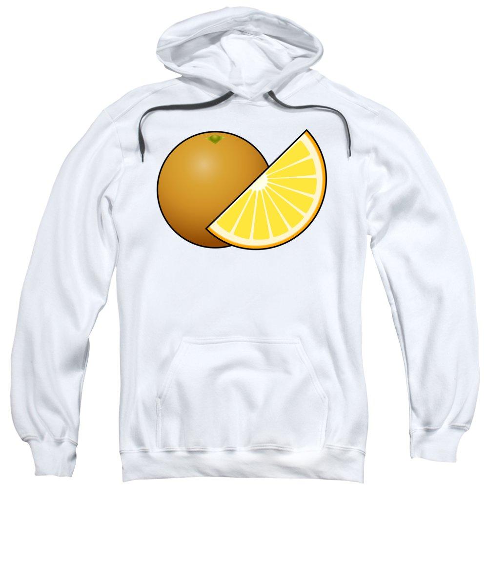 3d Sweatshirt featuring the digital art Orange Fruit Outlined by Miroslav Nemecek
