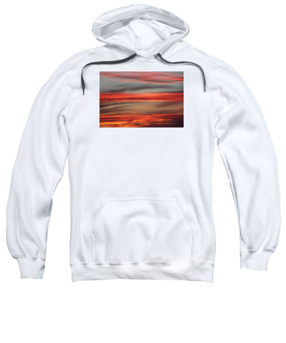Sunset Sweatshirt featuring the photograph Orange Sunset by Sierra Vance