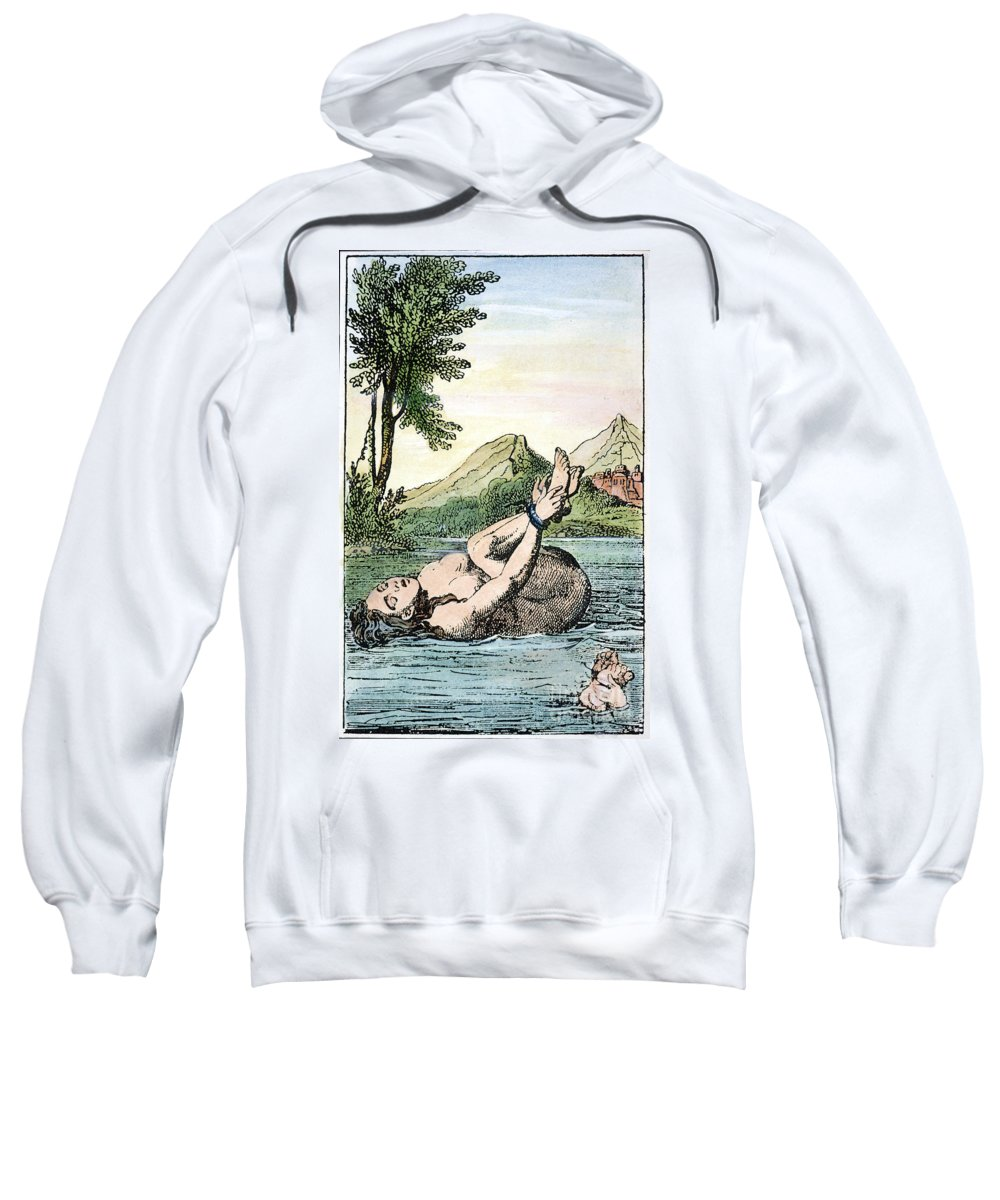 Bound Sweatshirt featuring the photograph Ordeal By Water by Granger