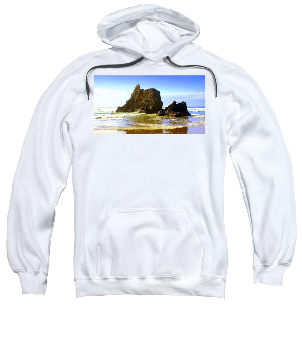 Ocean Sweatshirt featuring the photograph Oregon Coast 16 by Marty Koch