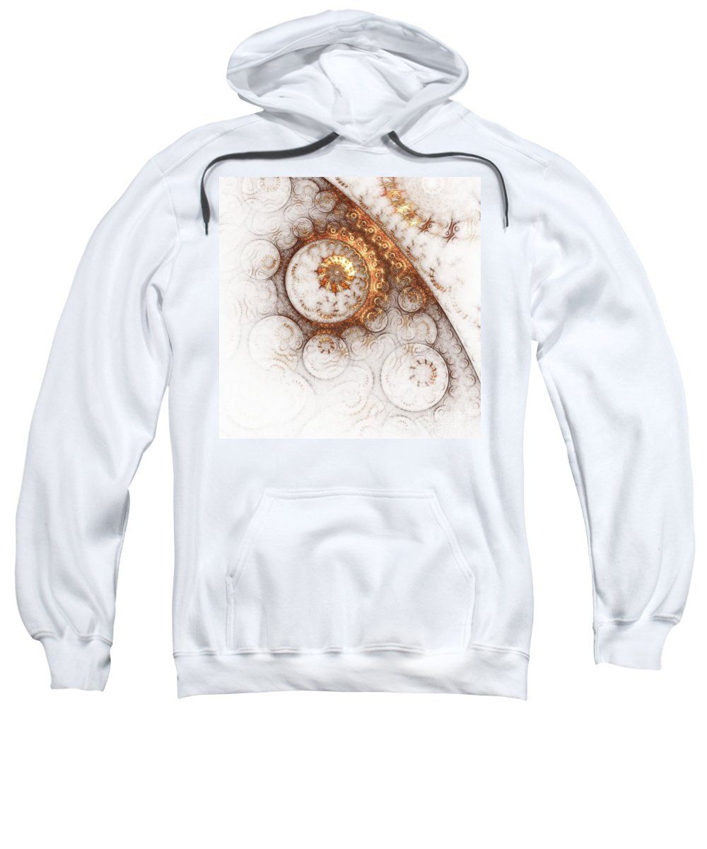 Abstract Sweatshirt featuring the painting Ornament by Steve K
