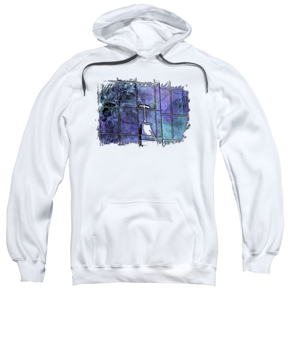 Berry Sweatshirt featuring the photograph Our Father Berry Blues 3 Dimensional by Di Designs