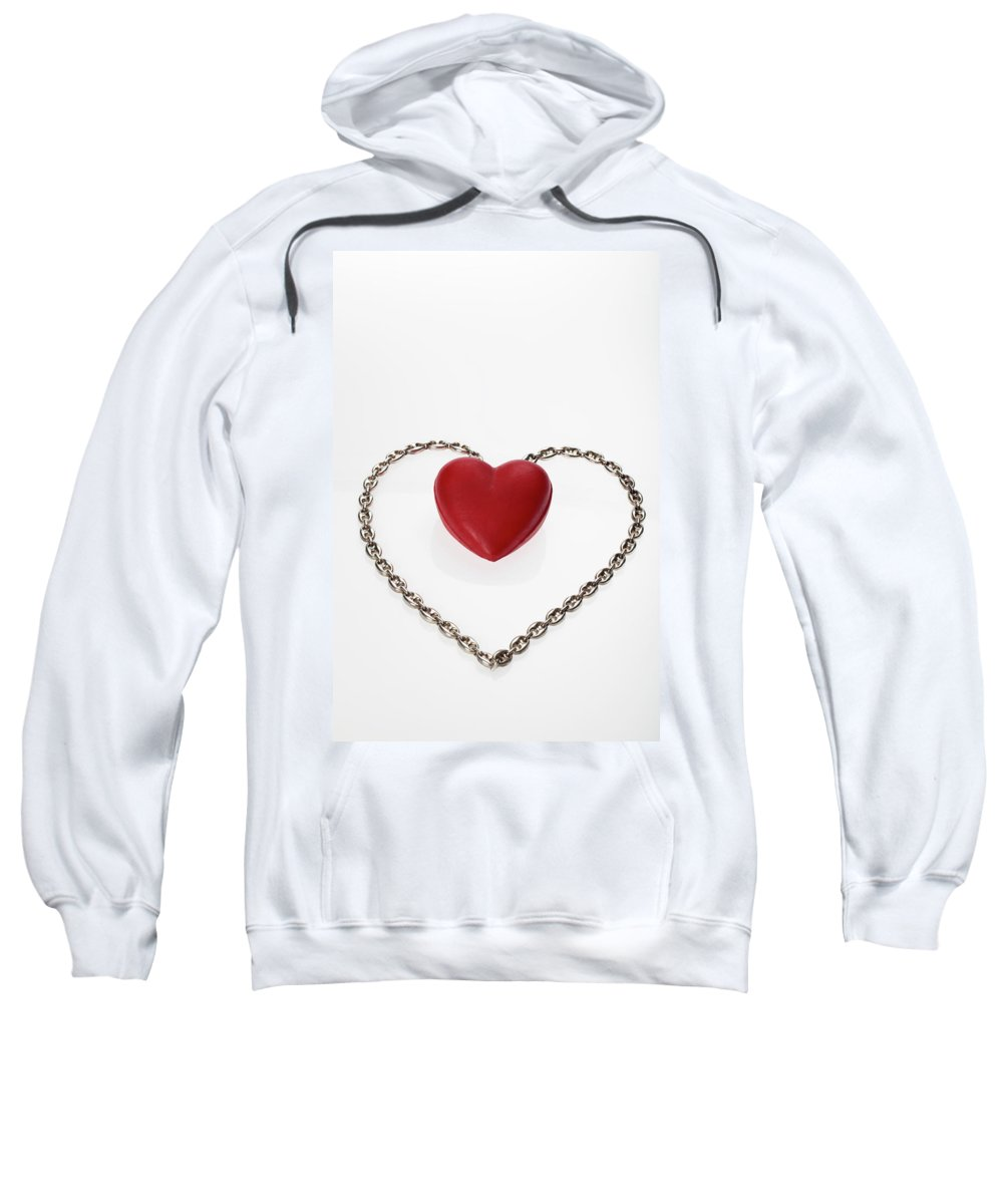 Composition Sweatshirt featuring the photograph Our Hearts Forever Together by Stefania Levi