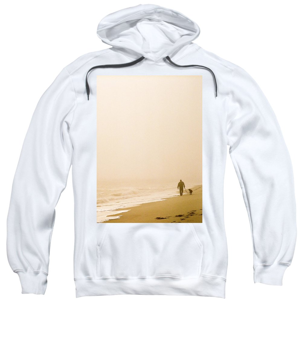 Landscape Sweatshirt featuring the photograph Out Of The Mist by Steve Karol
