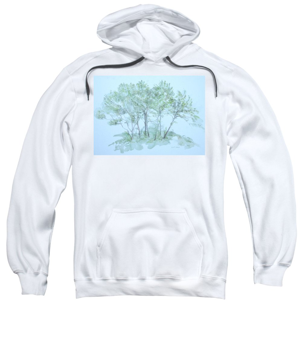 Trees Sweatshirt featuring the painting Outer Banks by Leah Tomaino