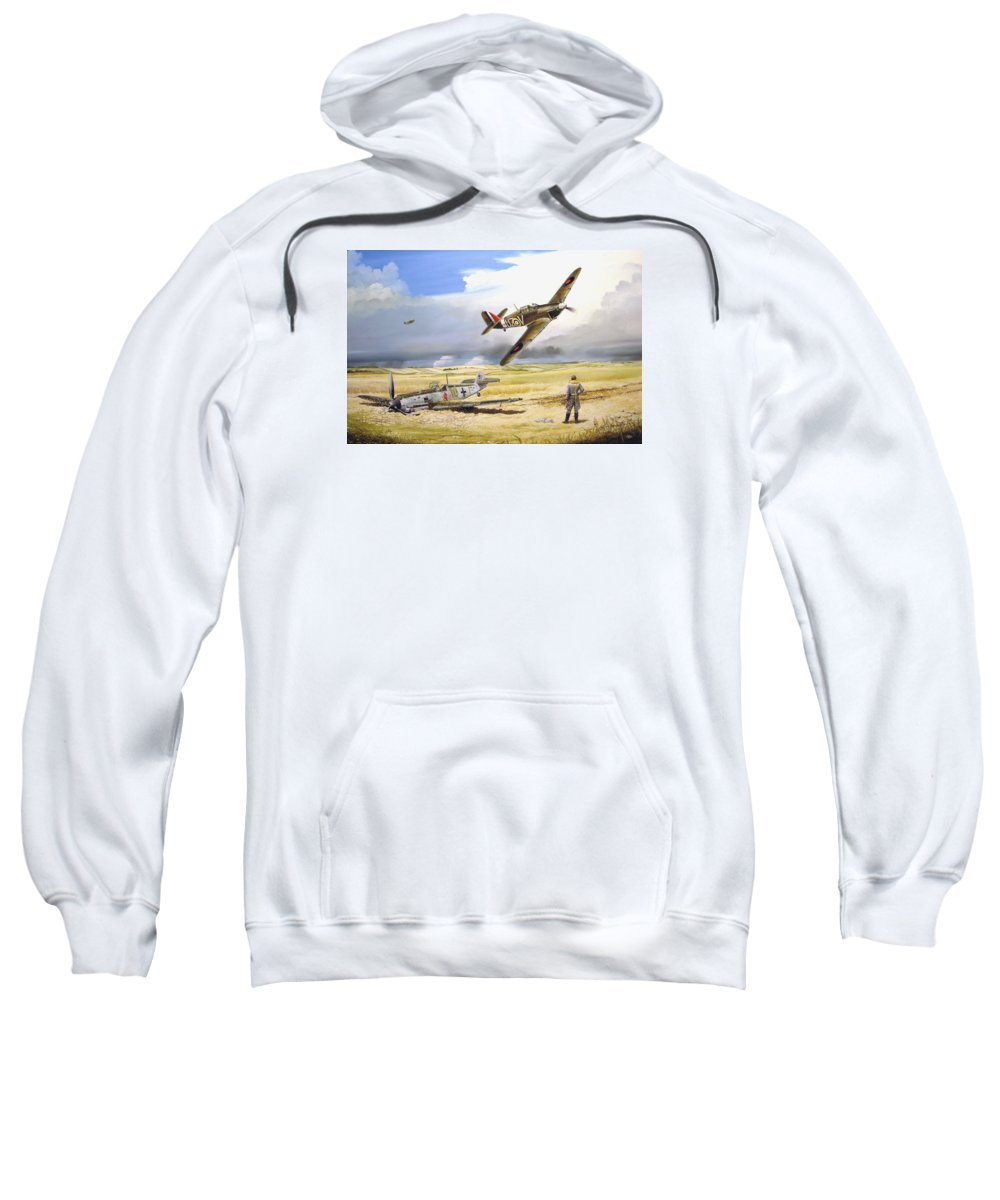 Painting Sweatshirt featuring the painting Outgunned by Marc Stewart