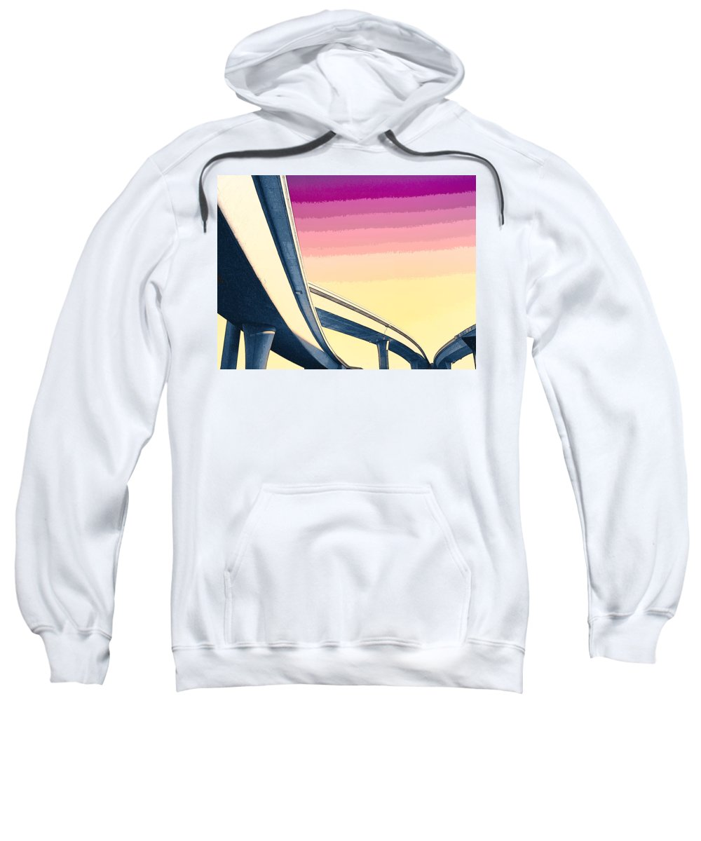 Overpass Sweatshirt featuring the mixed media Overpass One by Dominic Piperata