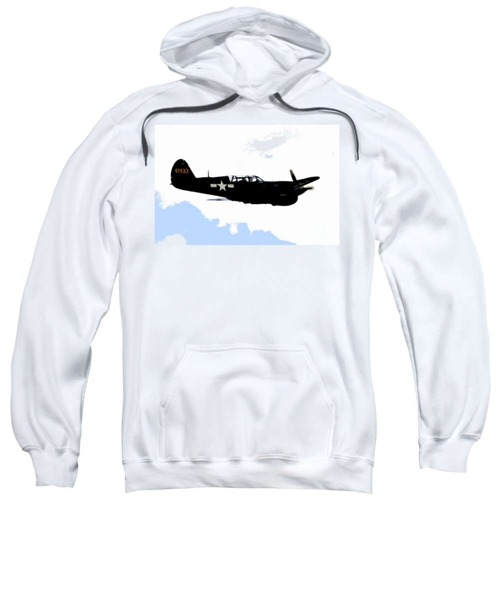 P 40 Sweatshirt featuring the painting P 40 by David Lee Thompson