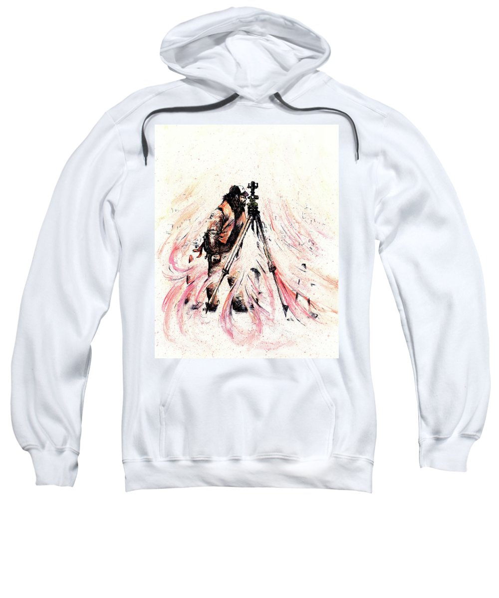 Figure Sweatshirt featuring the drawing P J by Rachel Christine Nowicki