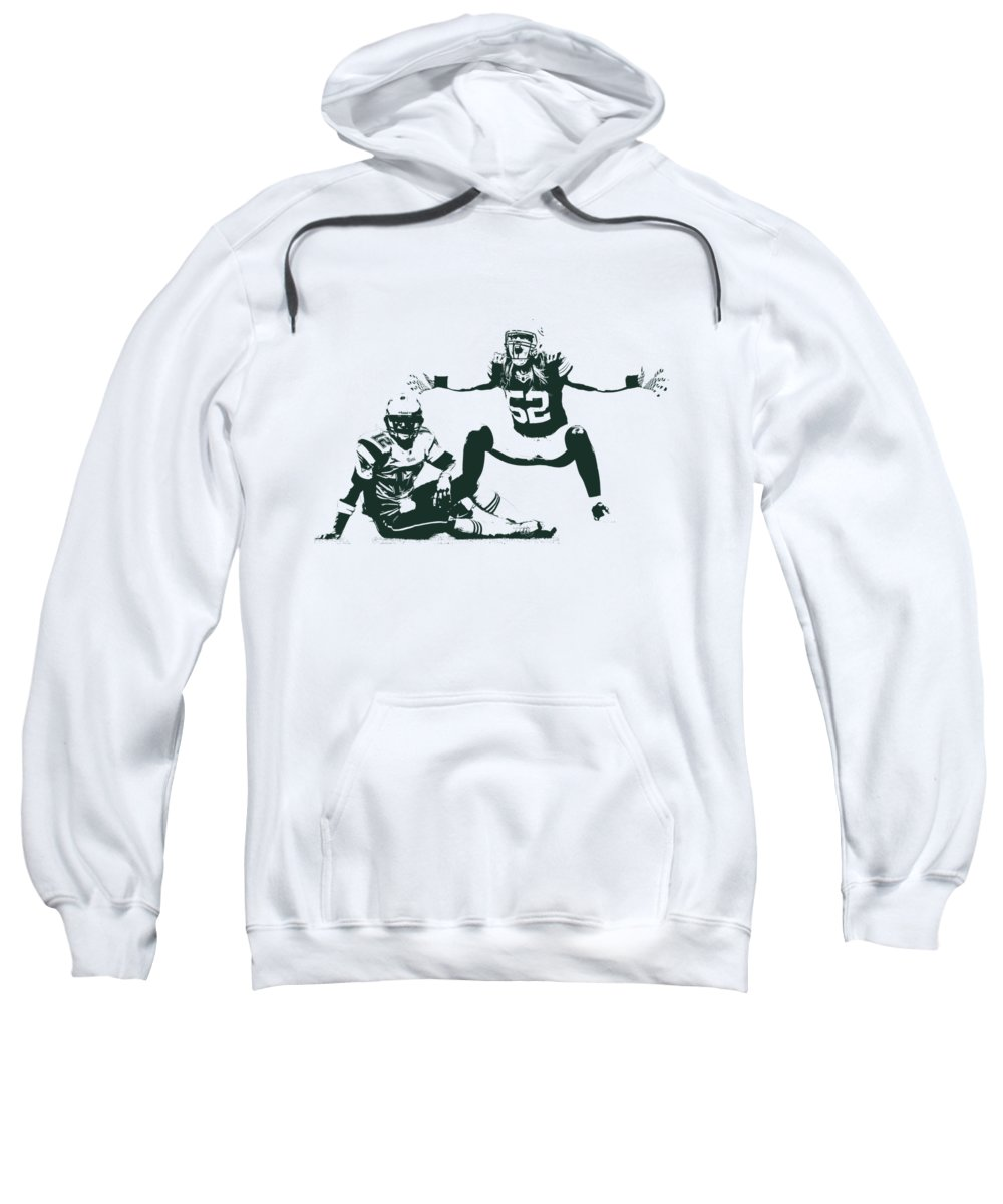 Clay Matthews Sweatshirt featuring the photograph Packers Clay Matthews Sack by Joe Hamilton