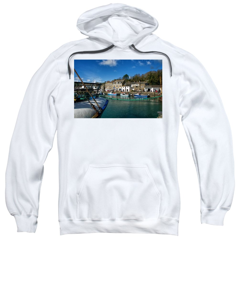 Padstow Sweatshirt featuring the photograph Padstow Harbour by Susie Peek