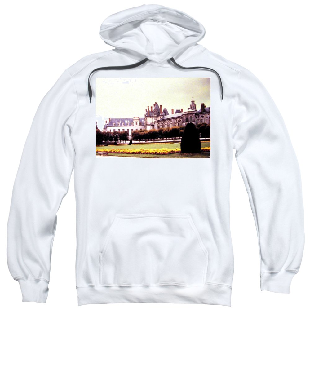 1955 Sweatshirt featuring the photograph Palace Of Fontainebleau 1955 by Will Borden