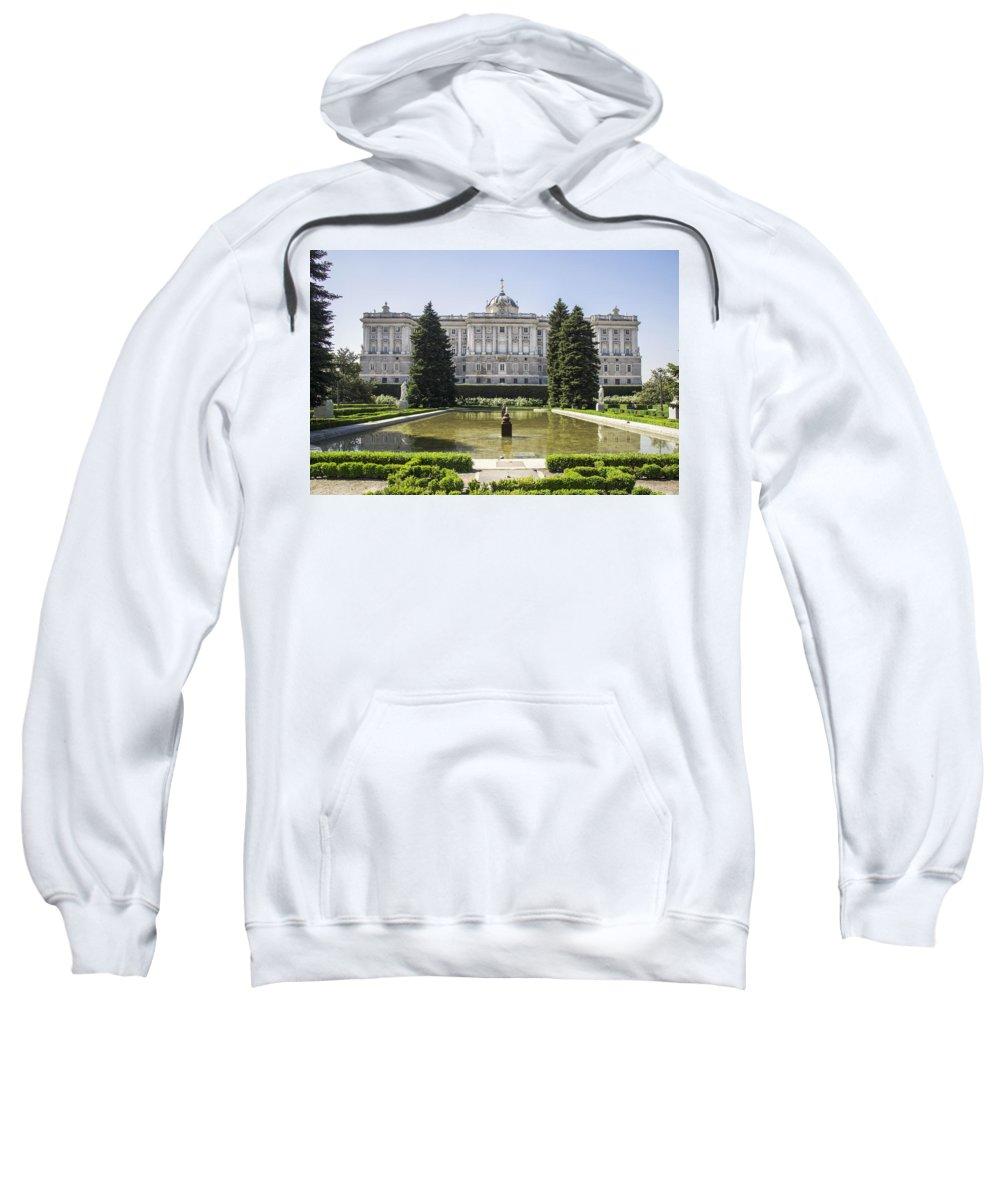 Break Sweatshirt featuring the photograph Palacio Real De Madrid by Ross G Strachan