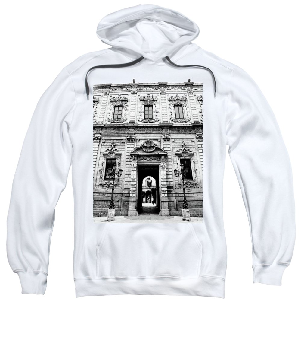 Architecture Sweatshirt featuring the photograph Palazzo Dei Celestini by Steven Myers
