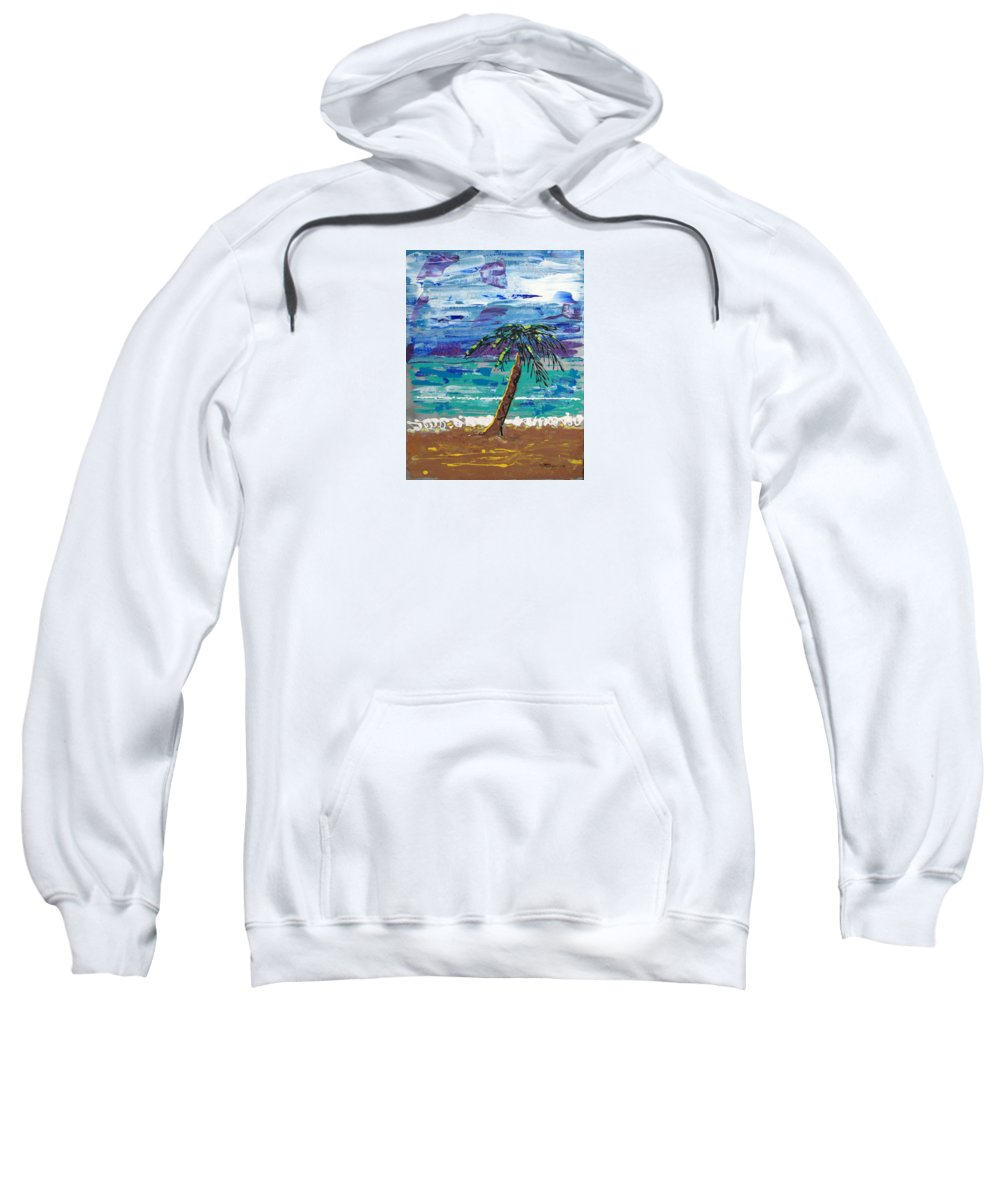 Impressionist Painting Sweatshirt featuring the painting Palm Beach by J R Seymour