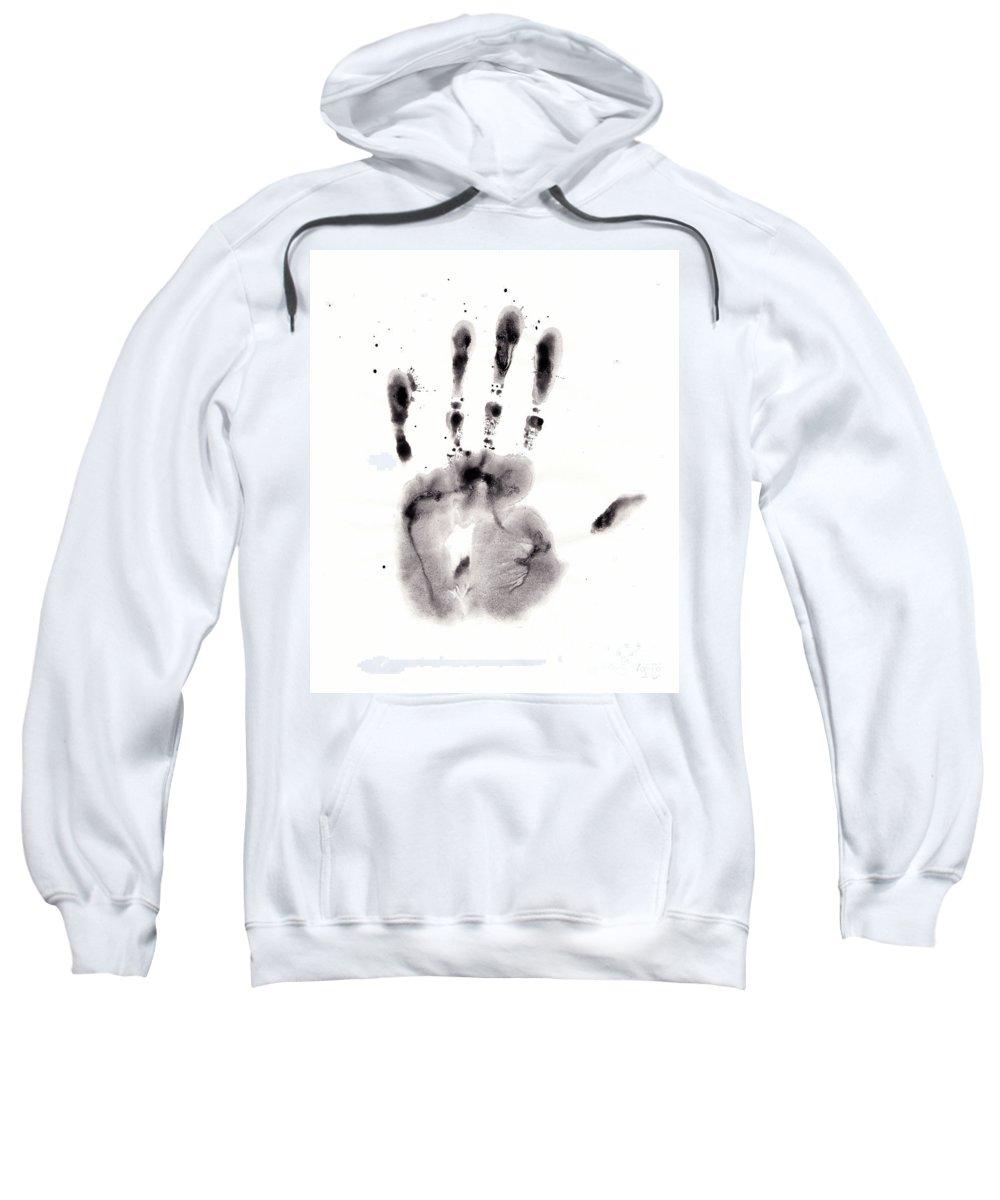 Palm Sweatshirt featuring the digital art Palm by Michal Boubin